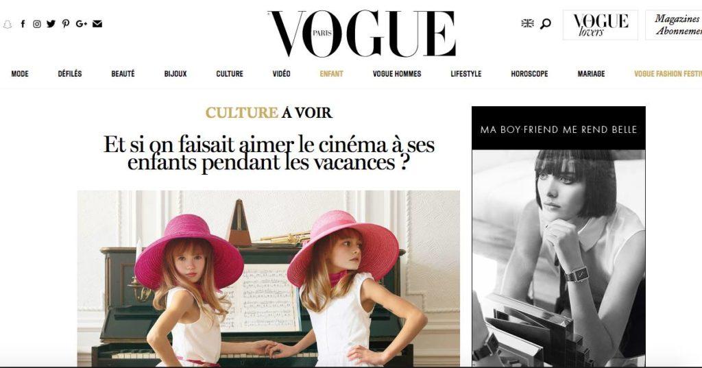 l'Atelier Juliette Moltes a été sélectionné dans le magazine Vogue