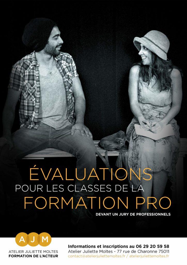 evaluations des classes de la formation pro - atelier juliette moltes