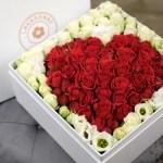 flower box coeur Atelier Lavarenne fleuriste Lyon