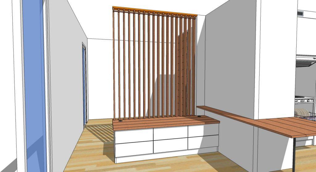 mesure d un meuble bas et claustra mobile