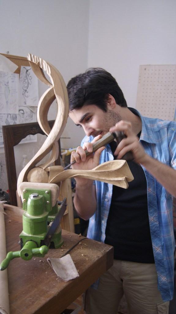 Sculpture en cours