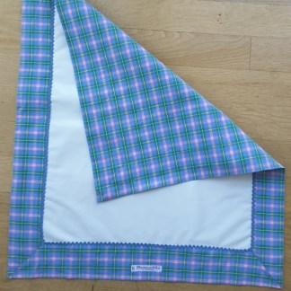 Tapis de change écossais bleu et rose (N°20-30) - Accessoires Bébé