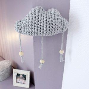 Mobile nuage gris clair
