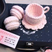 Valisette salon de thé rosa