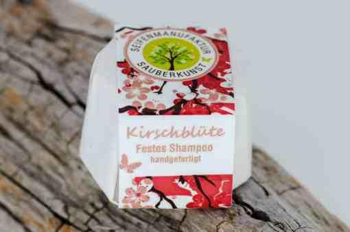Festes Shampoo Kirschblüte von Sauberkunst Seifenmanufaktur