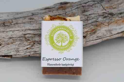 Sauberkunst Seifenmanufaktur Espresso Orange Seifenstück