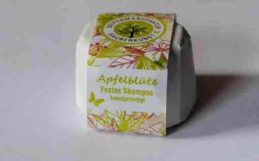 Festes Shampoo Apfelblüte von Sauberkunst Seifenmanufaktur