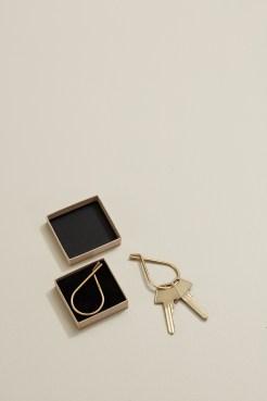 Schlüsselring Moebe, Keyring, Messing