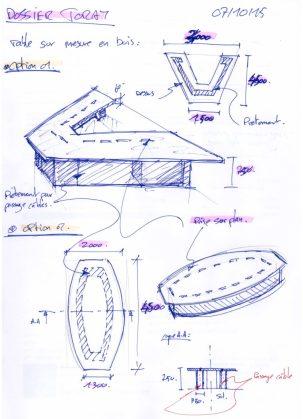 Idée croquis table réunion