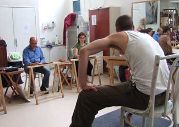 cours de dessin avec modele vivant