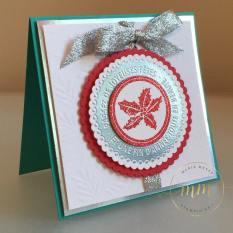 Cartes de Noël des tonnes de joies par Marie Meyer Stampin up - http://ateliers-scrapbooking.fr/ - Holly Jolly Layers Stamp - Fröhlich aufgelegt Stempel