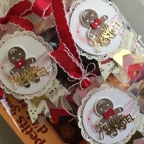 Tag emporte pièce de Noël et perforatrice bonhomme en pain d'épices par Marie Meyer Stampin up - http://ateliers-scrapbooking.fr/ - Cookie Cutter Christmas Stamp Set - Ausgestochen Weihnachtlich Stempel