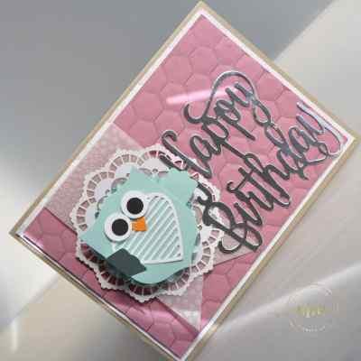 Carte d'anniversaire Thinlits Happy Birthday par Marie Meyer Stampin up - http://ateliers-scrapbooking.fr/ - Birthday card - Best Badge Punch - Happy Birthday Thinlits - Geburtstags karte - Wappen Stanzen - Happy Birthday Thinlits