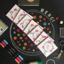 Cartes de remerciements Joyeux anniversaire beauté par Marie Meyer Stampin up - http://ateliers-scrapbooking.fr/ - Thank you cards Happy Birthday Gorgeous Stamp Set - Danke karten Alles Liebe, Geburtstagskind