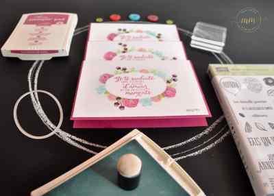 Cartes anniversaire Joyeux anniversaire beauté par Marie Meyer Stampin up - http://ateliers-scrapbooking.fr/ - Thank you cards Happy Birthday Gorgeous Stamp Set - Danke karten Alles Liebe, Geburtstagskind