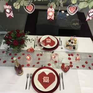 Décoration de table Saint Valentin Gite Alice Spa Jacuzzi Neuve Eglise 2020 3