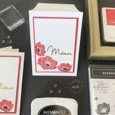 Cartes de menu Noce d'or Essence Florale 2019 9