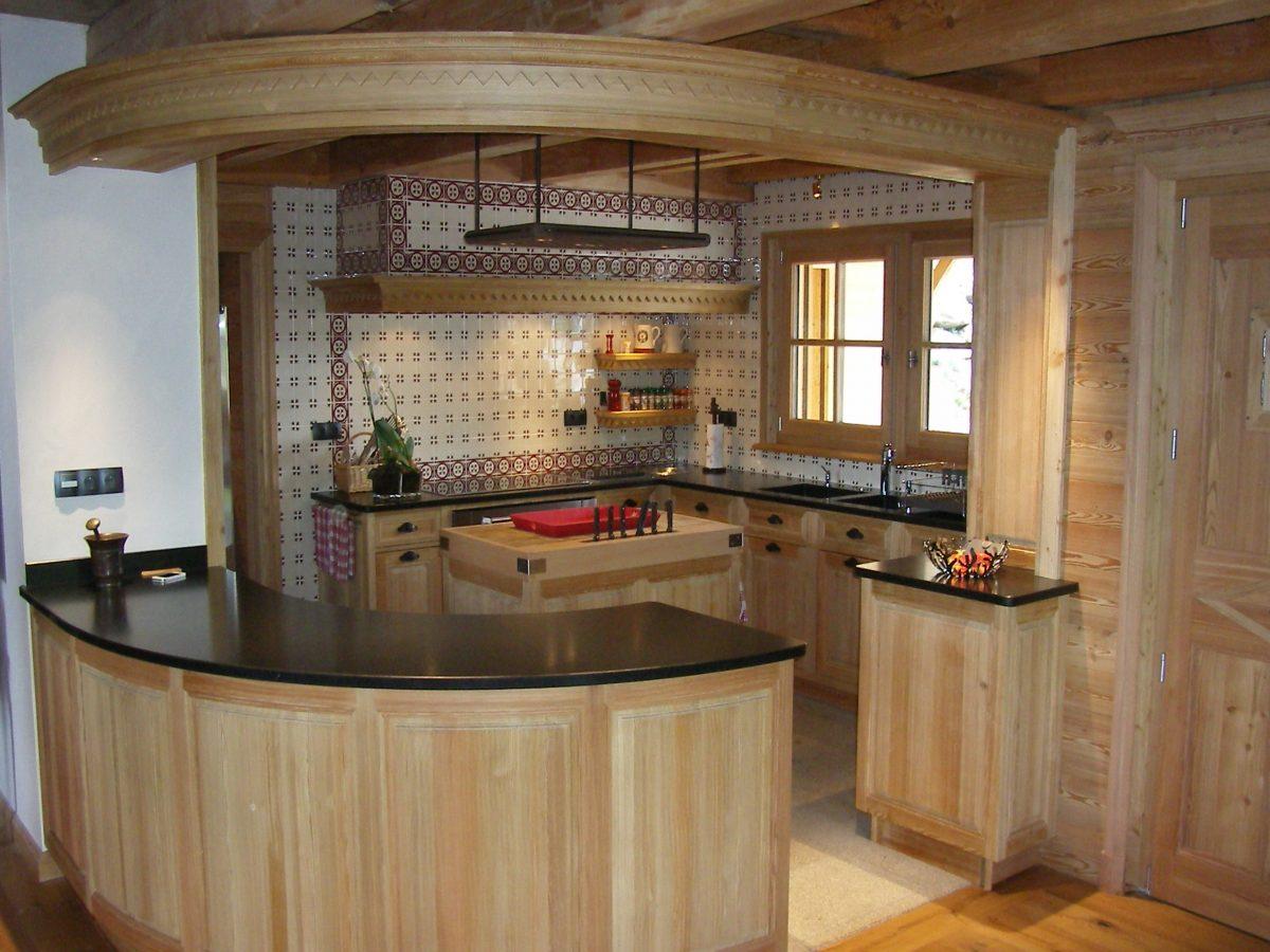 meuble billot cuisine