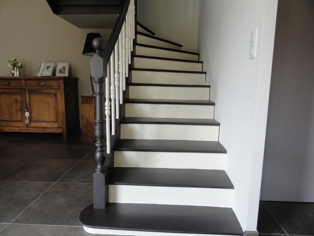 Latest Escalierx Peindre Un Escalier With Peinture Laque Grise