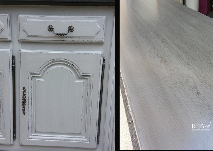 Patine gris/anthracite - Meuble enfilade - Ateliers Renard