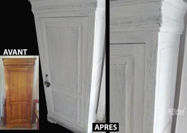 Patine grattée - Meuble confiturier - Ateliers Renard