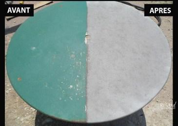 Table de jardin en métal - Ateliers Renard