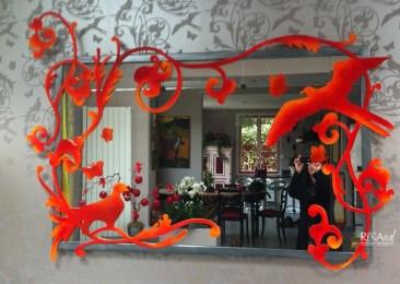 Création d'un habillage de miroir - Ateliers Renard