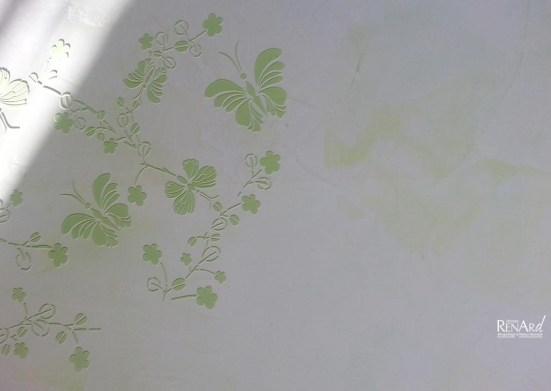 Zoom - Stucco marbré avec décor incrusté - Ateliers Renard