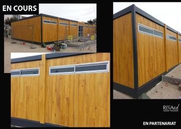 Décors extérieur peint - Trompe-l'œil faux bois - Ateliers Renard