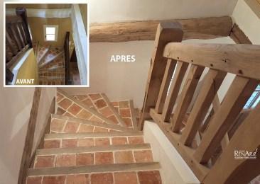 rénovation escalier en chêne