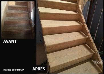 décaper escalier