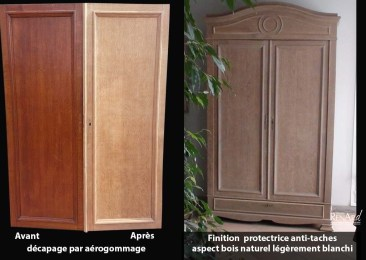 avec finition anti taches aspect naturel blanchi - Ateliers Renard