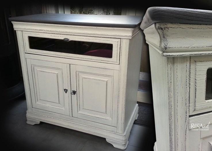 Patine meuble TV - Ateliers Renard