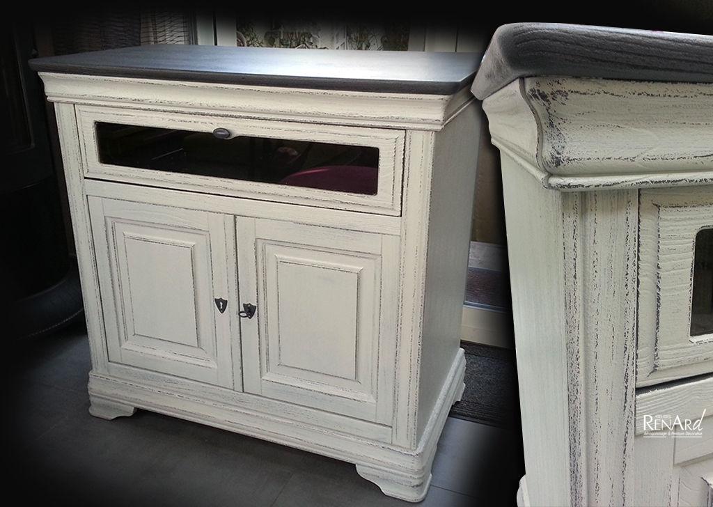 patine sur meuble buffet blanc patine meuble patine blanc armoire ceruse blanc meuble ceruse. Black Bedroom Furniture Sets. Home Design Ideas