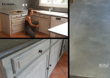 relooking cuisine patine et beton