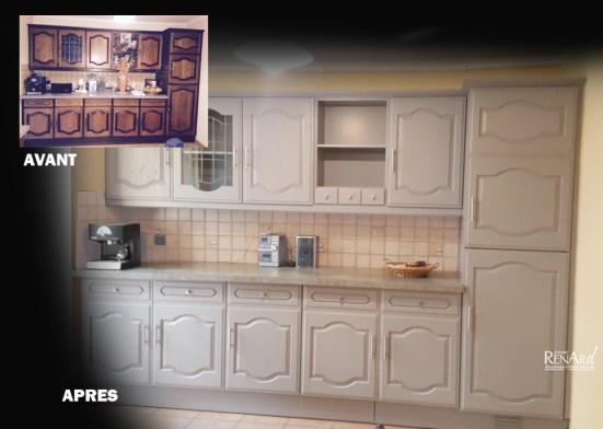 Relooking cuisines galeries photos ateliers renard essonne for Cuisine relookee grise