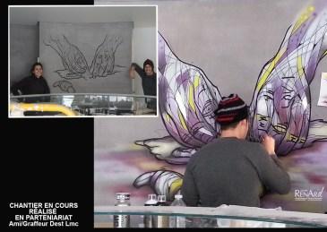 Graffiti fait à l'aérographe - Ateliers Renard