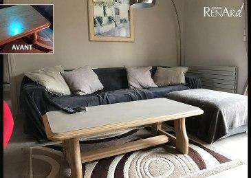 Relooking meuble bois et béton