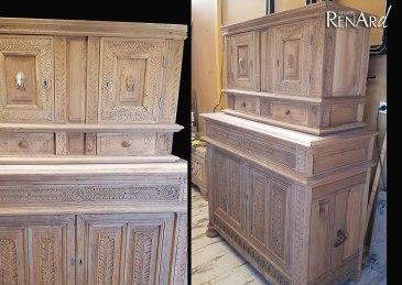 aerogommage-decapage-bois-meuble-chene-moulures-ateliers-renard