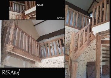 aerogommage-decapage-bois-poutres-escalier-ateliers-renard