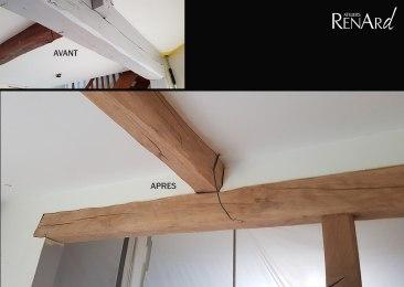 aerogommage-decapage-bois-poutres-escalier-peints-ateliers-renard
