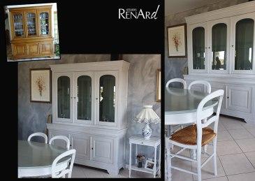 meubles de salle à manger relookés