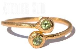 Dobbel Peridot Ring