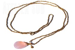 Happy Pink Chalcedoon Ketting