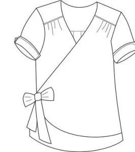 Un top dame de coeur de Chut Charlotte tissu sarong