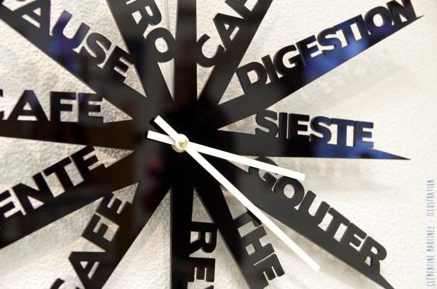 Horloge farniente en Plexiglas noir