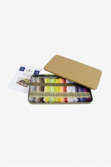 DMC Prestige Box Mouliné met 35 nieuwe kleuren borduurgaren, spiltzijde