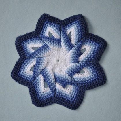 1498a Pannenlap in blauwtinten