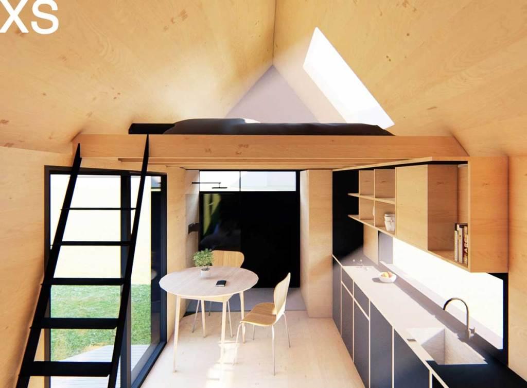 Intérieur de la tiny house