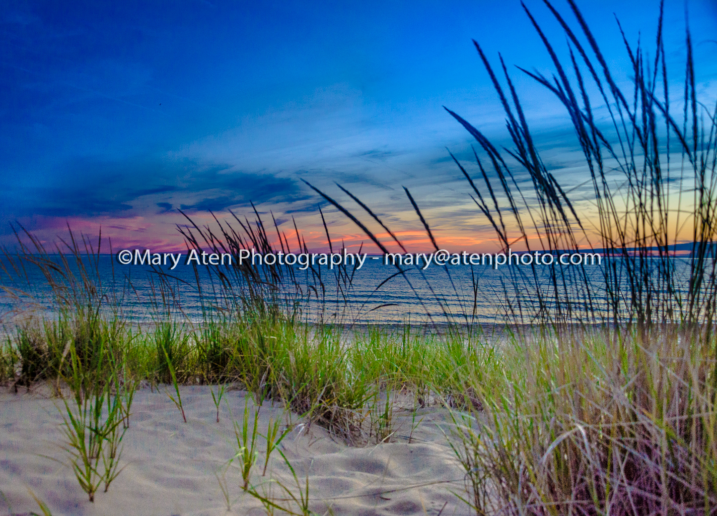 Photo Of Pastel Sunset And Beach Grass Mary Aten Photography